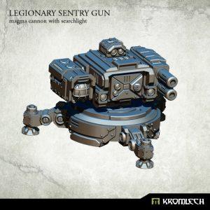 Kromlech   Legionary Model Kits Legionary Sentry Gun: Magma Cannon & Searchlight (1) - KRM119 - 5902216114807