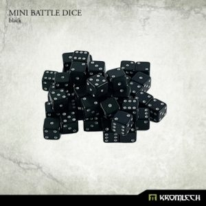 Kromlech   D6 Mini Battle Dice 50x Black 7mm - KRGA025 - 5902216113480