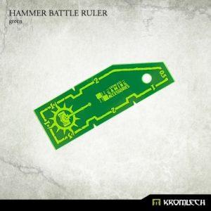 Kromlech   Tapes & Measuring Sticks Hammer Battle Ruler [green] (1) - KRGA019 - 5902216114142