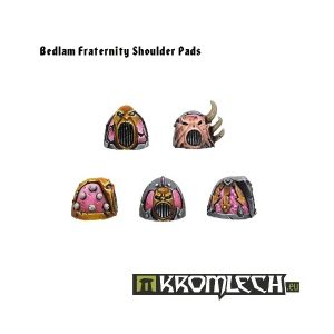 Kromlech   Heretic Legionary Conversion Parts Bedlam Fraternity Shoulder Pads (10) - KRCB055 - 5902216110533