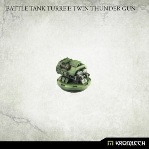Kromlech   Imperial Guard Conversion Parts Battle Tank Turret: Twin Thunder Gun (1) - KRVB084 - 5902216119741