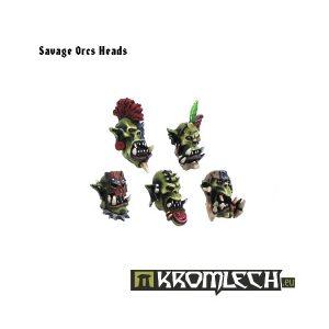 Kromlech   Orc Conversion Parts Savage Orcs Heads (10) - KRCB039 - 5902216110373