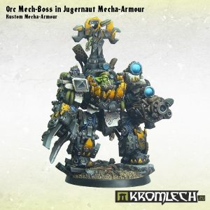 Kromlech   Orc Model Kits Orc Mech-Boss in Kustom Juggernaut Mecha-Armour (1) - KRM073 - 5902216112940