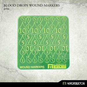 Kromlech   Status & Wound Markers Blood Drops Wound Markers [green] - KRGA042 - 5902216115026