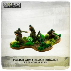 Kromlech   Kromlech Historical Polish Army Black Brigade wz. 31 mortar team (mortar and 3 crew) - KHWW2035 - 5902216119116