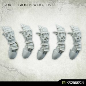 Kromlech   Heretic Legionary Conversion Parts Gore Legion Power Gloves (5) - KRCB244 - 5908291070014