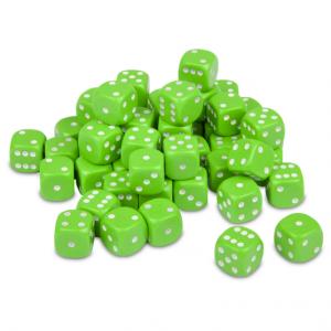 TTCombat   Opaque Dice: Lime Green (12mm) - KDDO14 - 5060570133510