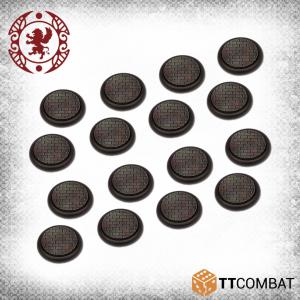 TTCombat Carnevale  Cobblestone Bases 30mm Cobblestone Bases (16) - TTCGR-ACC-013 - 5060570134319