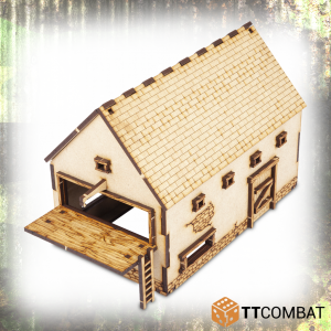 TTCombat   World War Scenics 25mm Barn - TTSCW-WAR-055 - 5060570134777
