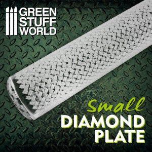 Green Stuff World   Rolling Pins Rolling Pin SMALL DIAMOND PLATE - 8436574508697ES - 8436574508697
