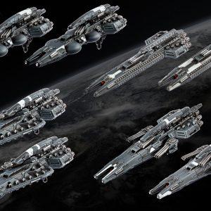 TTCombat Dropfleet Commander  UCM Fleet UCM Frigate Box - HDF-31003 - 740781772429