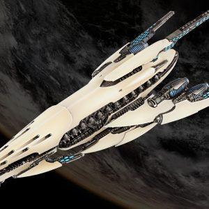 TTCombat Dropfleet Commander  Post-Human Republic Fleet PHR Battleship - HDF-24001 - 7407817723758
