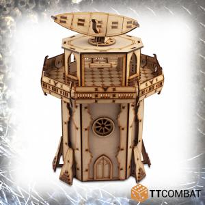 TTCombat   Sci Fi Gothic (28-32mm) Fortified Radar Tower - TTSCW-SFG-100 - 5060570137440