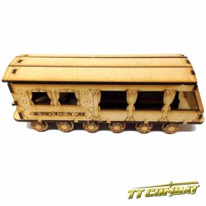 TTCombat   Old Town (28-32mm) Steam Train Observation Carriage - OTS033 -