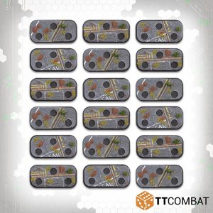 TTCombat Dropzone Commander  Dropzone Commander Essentials Dropzone Commander 3-hole Urban Infantry Bases - TTDZR-ACC-005 - 5060570139802