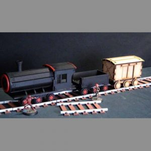 TTCombat   Wild West Scenics (28-32mm) Train Set - WWS026 -