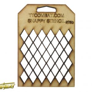 TTCombat   Snappy Stencils Large Diamonds - SST28B -