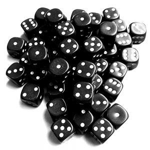 TTCombat   Opaque Dice: Black (12mm) - KDDO10 - 5060570131592