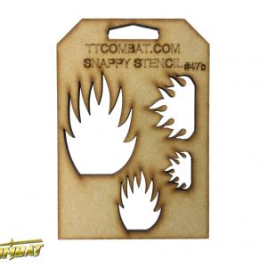 TTCombat   Stencils Fiery Skulls (Flames) - SST47B - SST47B