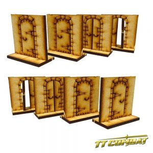 TTCombat   Fantasy Scenics (28-32mm) Dungeon Doors Set - RPG002 - 5060504041553
