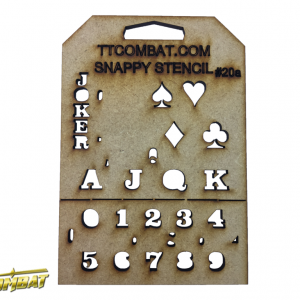 TTCombat   Stencils Card Suits (Small) - SST20A - SST20A