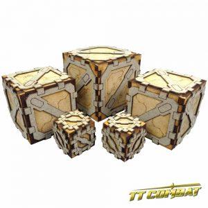 TTCombat   Sci Fi Scenics (28-32mm) Small Crates (5) - SFU009 - 5060504041997