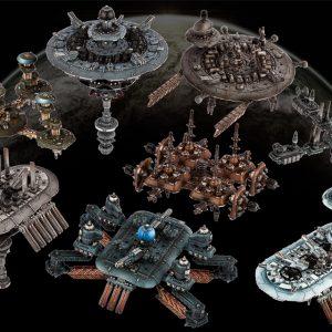 TTCombat   Dropfleet Essentials Dropfleet Space Station Pack - HDF-99003 - 740781772399