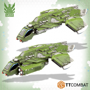 TTCombat   UCM Air Vehicles UCM Titania Falcon Gunships - TTDZR-UCM-027 - 5060570137778