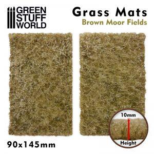 Green Stuff World   Grass Mats Grass Mat Cutouts - Brown Moor Fields - 8436574508383ES - 8436574508383