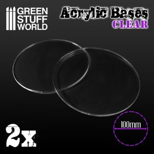 Green Stuff World   Acrylic Bases Acrylic Bases - Round 100 mm CLEAR - 8436574509236ES - 8436574509236