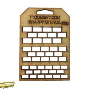 TTCombat   Snappy Stencils Large Bricks - SST23B -