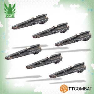 TTCombat Dropfleet Commander  UCM Fleet UCM Lysander Stealth Lighters - TTDFR-UCM-006 - 5060570138331