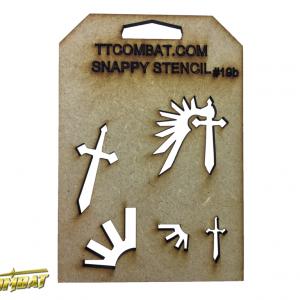 TTCombat   Snappy Stencils Angels (Small Symbols) - SST19B -