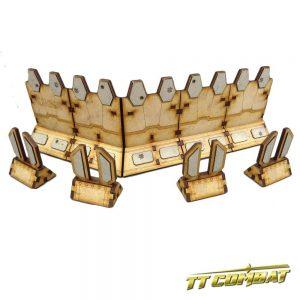 TTCombat   Sci Fi Scenics (28-32mm) Compound Barricades - SFU043 - 5060504042833
