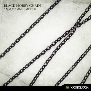 Kromlech   Modelling Chain Black Hobby Chain 3mm x 3mm (1 meter) - KRMA049 - 5902216115200