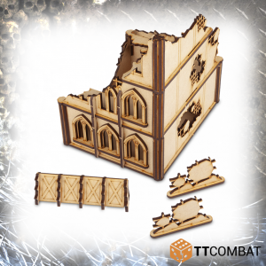 TTCombat   Sci Fi Gothic (28-32mm) Ruined Gothic Brownstone - TTSCW-SFG-048 - 5060570133923