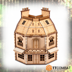 TTCombat   World War Scenics 25mm City Rowhouse Cornershop - TTSCW-WAR-046 - 5060570134883