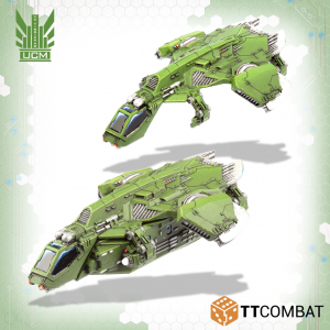 TTCombat   UCM Air Vehicles UCM Titania Raven Dropships - TTDZR-UCM-006 - 5060570137761