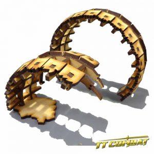 TTCombat   Sci Fi Scenics (28-32mm) Ruined Gravity Lift - SFU040 - 5060504042291