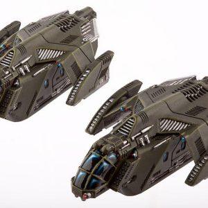 TTCombat   UCM Dropships UCM Raven Type-A / Type-B Light Dropships - DZC-21003 - 5060570132353