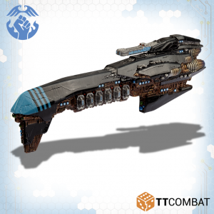 TTCombat Dropfleet Commander  The Resistance Fleet Resistance Grand Cruiser - TTDFR-RES-003 - 5060570136467