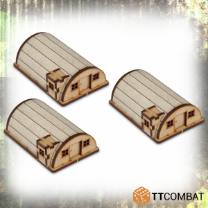 TTCombat   World War Scenics 15mm Billet Huts - TTSCW-WAR-010 -