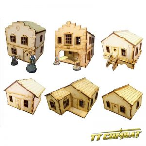 TTCombat   Old Town (28-32mm) 6 House Set - OTS6H -