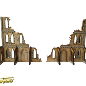 TTCombat   Sci Fi Gothic (28-32mm) Gothic Corner Ruins A - SFG026 - 5060504043748