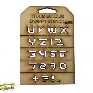 TTCombat   Snappy Stencils Futuristic Letters (U-9) - SST25B -