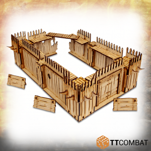 TTCombat   Savage Domain (28-32mm) Savage Domain: Palisade Walls - TTSCW-FSC-033 - 5060570136177