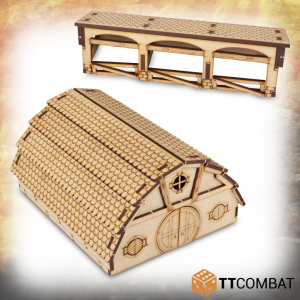 TTCombat   Savage Domain (28-32mm) Savage Domain: Halfling Barn - TTSCW-FSC-022 - Duplicate barcode