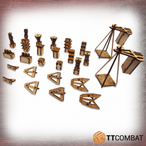 TTCombat   Streets of Venice (28-32mm) Venetian Rooftop Accessories - TTSCW-SOV-110 - 5060570136887
