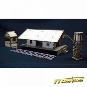 TTCombat   Wild West Scenics (28-32mm) Train Station - WWS028 -