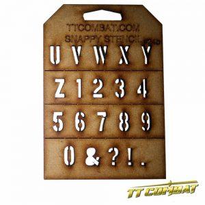 TTCombat   Snappy Stencils Military Letters (U-9) - SST24B - SST24B